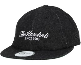 Worn New Era Black Strapback - The Hundreds