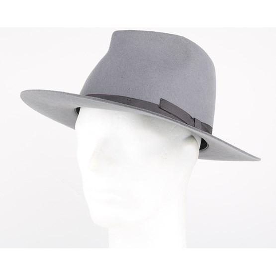 fe59533da80fe Manhattan Light Grey Fedora - Brixton hats - Hatstoreworld.com