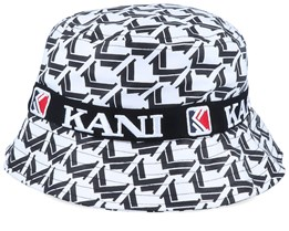 Retro Bucket White/Black Bucket - Karl Kani