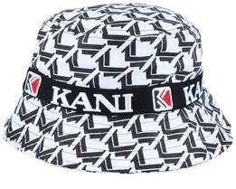 Retro Bucket White/Black Bucket - Karl Kani