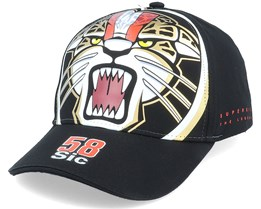Moto GP Marco Simoncelli Baseball Jaguar Sic Black Adjustable - Moto GP
