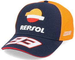 Moto GP Dual Repsol Marquez Baseball Navy/Orange Adjustable - Moto GP