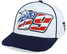 Moto GP Nicky Hayden Midvisor 69 White/Navy Adjustable - Moto GP