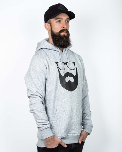 Logo Grey/Black Hoodie - Bearded Man