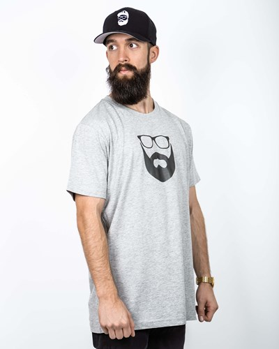 Logo Grey/Black T-Shirt - Bearded Man