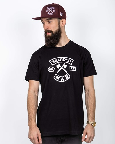 MC Patch Black/White T-Shirt - Bearded Man