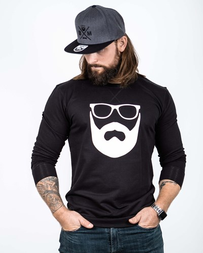 Logo Black/White Sweatshirt - Bearded Man