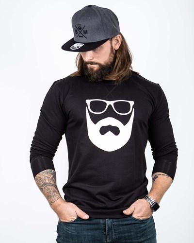 Logo Black/White Sweatshirt - Bearded Man