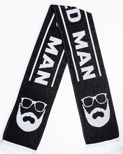 Scarf Black/White - Bearded Man