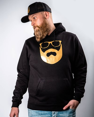 Logo Black/Gold Hoodie - Bearded Man