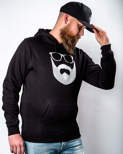 Logo Black/Silver Hoodie - Bearded Man