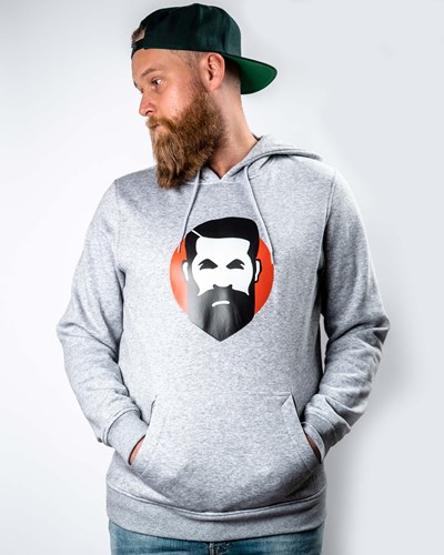 Sunshine Man Grey Hoodie - Bearded Man