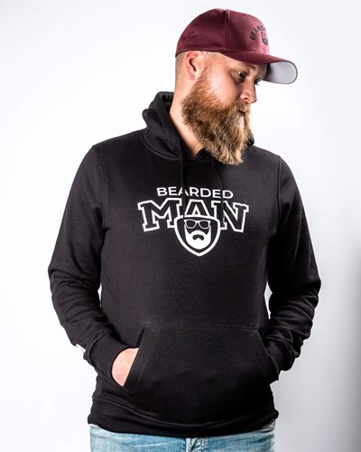 Team BM Black Hoodie - Bearded Man