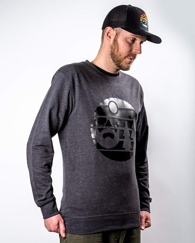Sunset Charcoal/Black Sweatshirt - Bearded Man