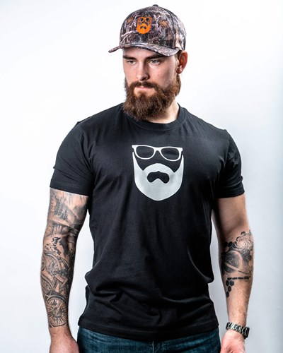 Logo Black/Silver T-Shirt - Bearded Man
