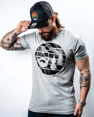 Sunset Grey/Black T-Shirt - Bearded Man