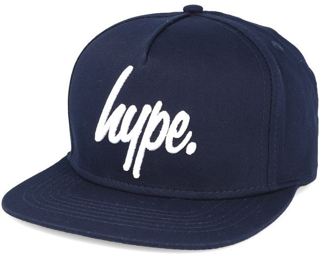 6064d5b31 Script Navy/white Snapback - Hype caps | Hatstore.co.uk