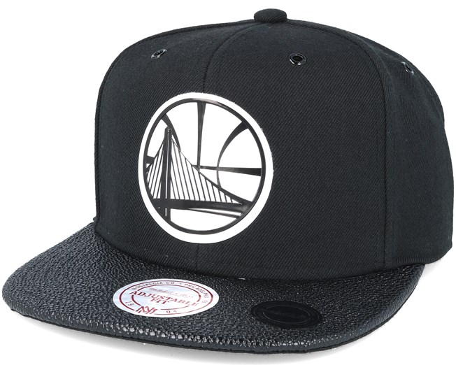 brand new a8742 243e9 Golden state Warriors Ultimate Black Snapback - Mitchell   Ness