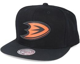 Anaheim Ducks Serve Black Snapback - Mitchell & Ness