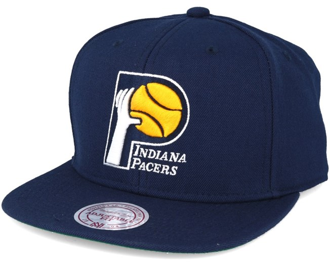 online store d685e b0875 Indiana Pacers Wool Solid Navy Snapback - Mitchell   Ness
