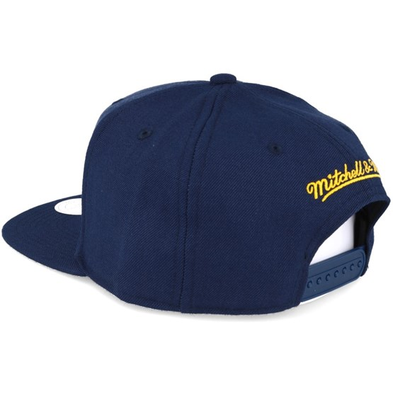 1ca542095b8ad Indiana Pacers Wool Solid Navy Snapback - Mitchell   Ness caps -  Hatstoreaustralia.com