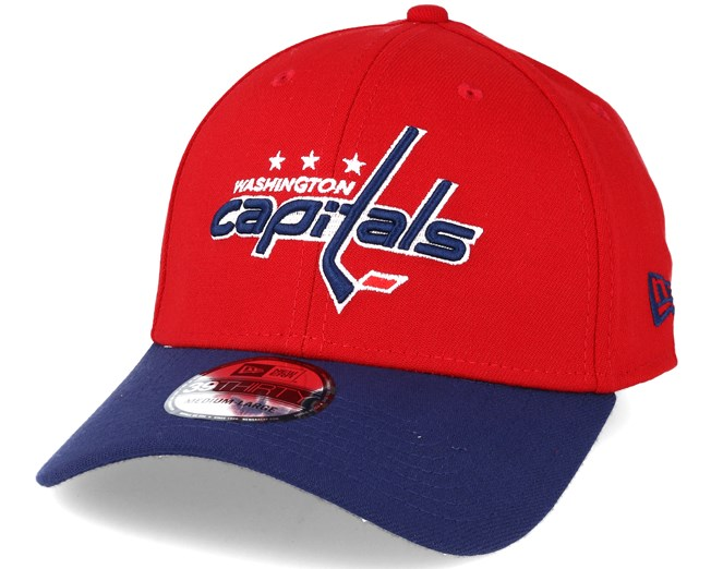 dadf801d5f889 Washington Nationals NHL Essential Red Blue 39thirty Flexfit - New Era