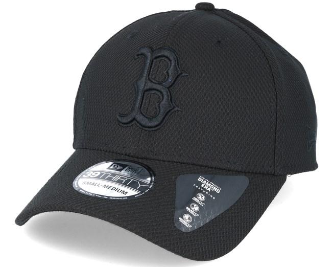 Boston Red Sox Stretch MLB Tonal Diamond Black 39thirty Flexfit - New Era 419ff896cd7