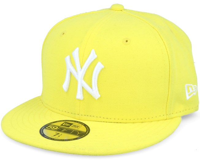 NY Yankees MLB Basic Yellow 59fifty Fitted - New Era cap - Hatstore ... 615eda6555f3