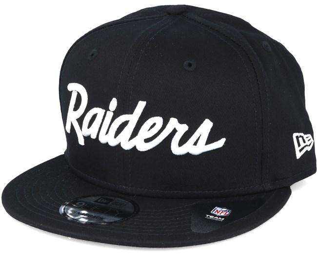 Oakland Raiders NFL Wordmark Black Snapback - New Era caps ... c0b9e0a06