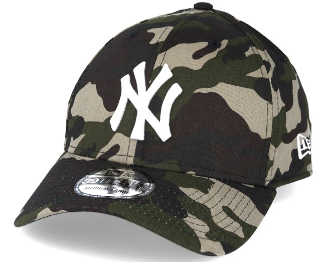New York Yankees MLB League Essential Camo 39thirty Flexfit - New ... 9059a9a3294