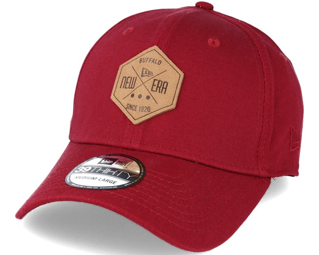 Ne Hex Patch Stretch Red 39thirty Flexfit New Era cap