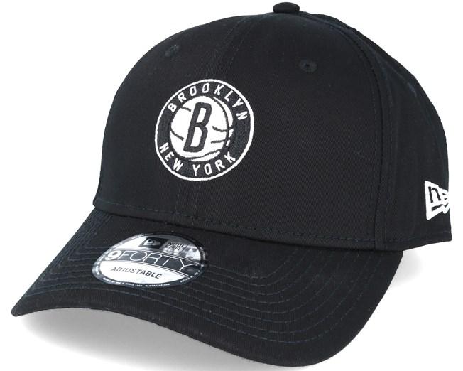new arrival d541d e97ad Brooklyn Nets NBA Black 9forty Adjustable - New Era