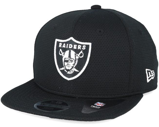 b0e77e34d263c Oakland Raiders Jr NFL Training Mesh Black 9fifty Snapback - New Era