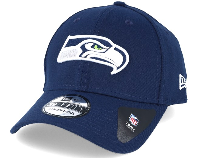 afb835e53deea Seatle Seahawks NFL Team Essential Stretch Navy 39thirty Flexfit - New Era