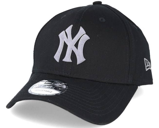 56f7ce90075 New York Yankees Flock Logo Black 9forty Adjustable - New Era caps ...