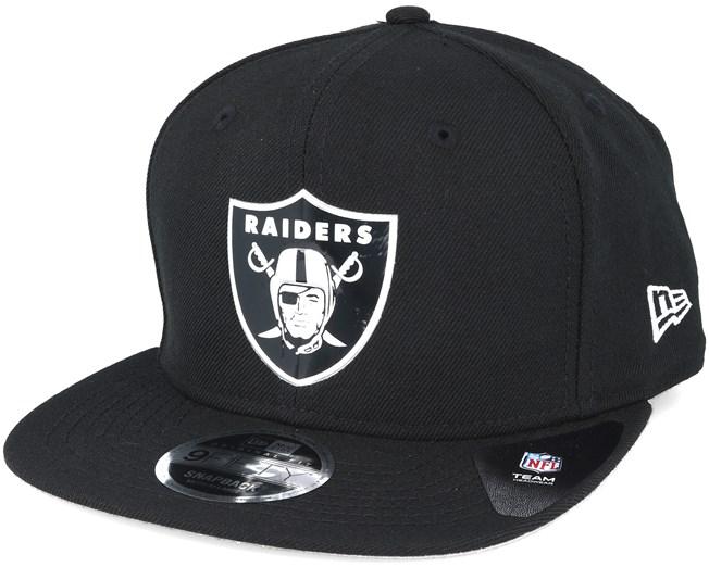 0bcbaf836d511 Oakland Raiders NFL Logo Shine Black 9fifty Snapback - New Era caps ...