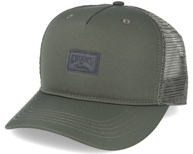 Mesh Logo Green Trucker Snapback - Crooks   Castles caps  744a278fba28