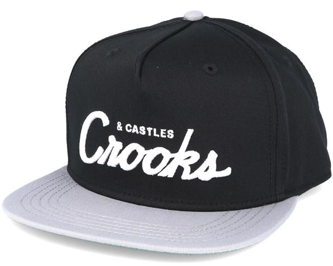 8409bf5db80 Team Crooks Black Snapback - Crooks   Castles caps