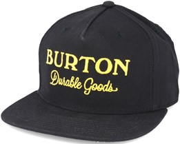 Durable Goods True Black Snapback - Burton