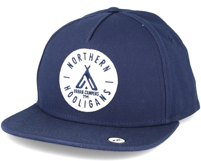 The Urban Campers Navy Snapback  - Northern Hooligans