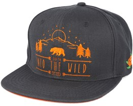Into The Wild Charcoal Snapback - Sqrtn
