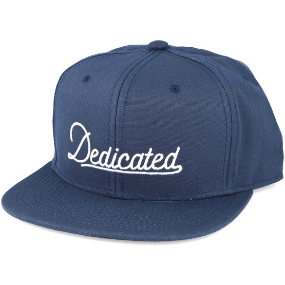 Keps Old Script Navy Snapback - Dedicated - Blå Snapback