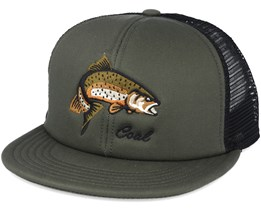 The Wilds. Trucker Olive Snapback - Coal