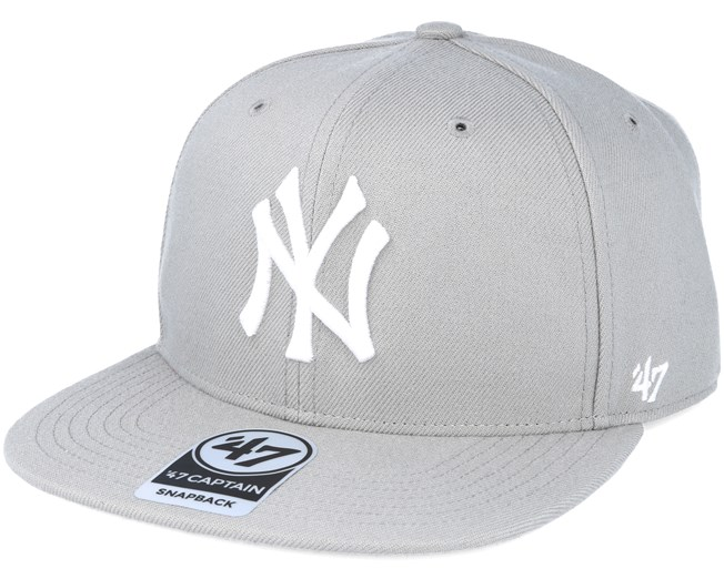 classic fit cheap prices where can i buy New York Yankees No Shot captain Grey Snapback - 47 Brand caps ...