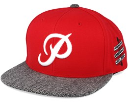 Classic P Red Snapback- Primitive Apparel