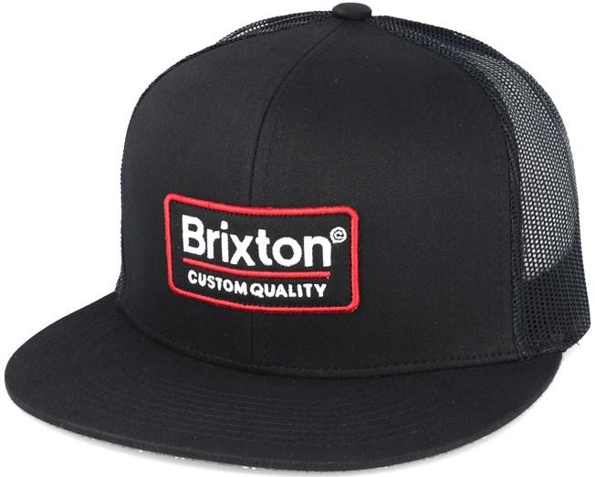 8655998b577 Palmer Mesh Black Trucker Snapback - Brixton caps