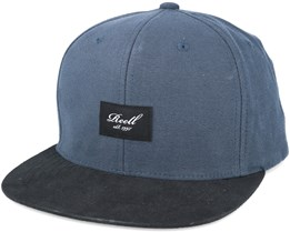 Suede 6-Panel Charcoal/black Snapback - Reell