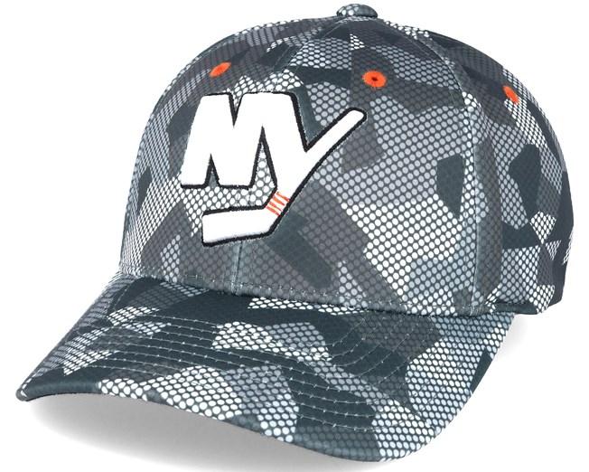 d43790c12a5 New York Islanders Carbon Camo Slouch Flexfit - Mitchell   Ness caps ...