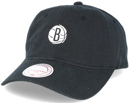 Brooklyn Nets Chukker Strapback Black Adjustable - Mitchell & Ness
