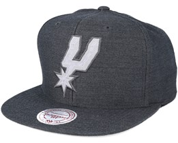 San Antonio Spurs Cut Heather Black Snapback - Mitchell & Ness